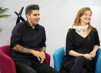 30 Ninjas' CEO and Creative Director Julina Tatlock and CTO and VR Specialist Lewis Smithingham during a live interview from the SIGGRAPH 2016 StudioXperience