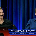 Adobe's David Helmly and actor, director & producer Sharlto Copley during a StudioXperience interview covering Sharlto's career and Dell Precision Workstations.