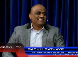 ActiveVideo Networks VP of Strategy and Product Marketing Sachin Sathaye on CloudTV Software applications and leveraging Intel processors in their platform during a StudioXperience interview on Waskul.TV